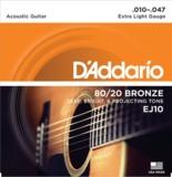 D'Addario / 80/20 Bronze EJ10 Extra Light 10-47 アコギ弦 商品画像