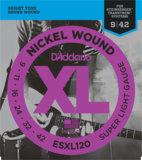 D'Addario / ESXL120 Super Light 09-42 Double Ball End エレキギター弦 商品画像