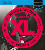 D'Addario / EXL170-5 Regular Light 45-130 Long Scale 5-Strings ベース弦 商品画像
