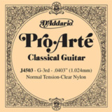 D'Addario / Pro-Arte Classic Guitar Normal Tension Clear Nylon J4503 G-3rd .0403 バラ弦 【お取寄せ商品】 商品画像