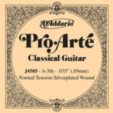 D'Addario / Pro-Arte Classic Guitar Normal Tension Silverplated Wound J4505 A-5th .035 バラ弦 【お取寄せ商品】 商品画像