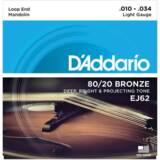 D'Addario / EJ62 80/20 Bronze Mandolin Strings Light 10-34 ダダリオ マンドリン弦 【お取寄せ商品】 商品画像