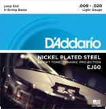 D'Addario / Banjo Nickel EJ60 (J60) Light 9-20 5-Strings ダダリオ バンジョー弦 【お取寄せ商品】 商品画像