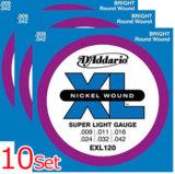 D'Addario / EXL120-10P Super Light 09-42 (10 Sets Pack) 【お取寄せ商品】 商品画像