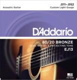D'Addario / 80/20 Bronze EJ13 Custom Light 11-52 アコギ弦 商品画像