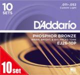 D'Addario / EJ26-10P Phosphor Bronze Custom Light 11-52 アコースティックギター弦 10セットパック 【お取り寄せ商品】 商品画像
