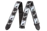Fender / Monogram Strap Black/Light Grey/Blue  商品画像