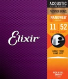 Elixir / NANOWEB with ANTI-RUST Phosphor Bronze #16027 Custom Light 11-52 アコギ弦 商品画像