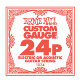 ERNiE BALL / Electric or Acoustic Steel Plain 1024 .024 バラ弦 【お取寄せ商品】 商品画像