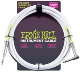 Ernie Ball / 6049 10feet S/L Instrument Cable - White 楽器用ケーブル アーニーボール 【お取り寄せ】 商品画像