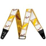 Fender Weighless 2 Mono Strap, White / Brown / Yellow  商品画像