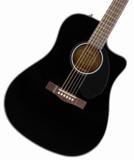 FENDER Acoustic / CD-60SCE Dreadnought Walnut Fingerboard Black フェンダー アコースティックギター エレアコ アコギ CD60SCE 商品画像