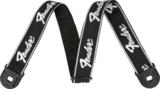 Fender / Quick Grip Locking End Strap Black with White Running Logo 2 フェンダー ストラップ 商品画像