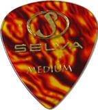Selva / Rubber Grip Pick Tear Drop Medium(0.75mm) Shell 材質:セルロース 色:シェル (ラバー滑り止め付) 商品画像