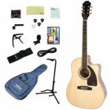 Epiphone / AJ-220SCE NA (Natural) (アコースティックギター入門15点セット) エピフォン アコギ エレアコ 初心者 AJ220SCE 商品画像