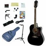 Epiphone / AJ-220SCE EB (Ebony) (アコースティックギター入門15点セット) エピフォン アコギ エレアコ 初心者 AJ220SCE 商品画像
