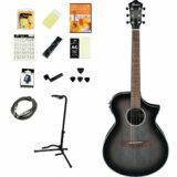 Ibanez / AEWC11-TCB (Transparent Charcoal Burst) 【アコースティックギター15点入門セット!】 アイバニーズ アコースティックギター アコギ エレアコ AEWC11 入門 初心者 商品画像