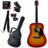 Sepia Crue / WG10/CS(Cherry Sunburst) 【シンプル8点入門セット】 セピアクルー アコースティックギター フォークギター アコギ 入門 初心者 WG-10 (/+811185200) 商品画像