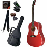 Sepia Crue / JG-10 WR(ワインレッド) 【シンプル8点入門セット】 セピアクルー アコースティックギター フォークギター アコギ 入門 初心者 (/+811185200) 商品画像