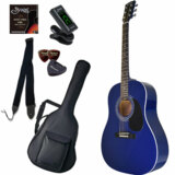 Sepia Crue / JG-10 BL(ブルー) 【シンプル8点入門セット】 セピアクルー アコースティックギター フォークギター アコギ 入門 初心者 (/+811185200) 商品画像