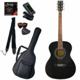 Sepia Crue / FG10/BK(ブラック) 【シンプル8点入門セット】 セピアクルー アコースティックギター フォークギター アコギ 入門 初心者 FG-10 (/+811185200) 商品画像