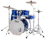 Pearl ドラムセット EXX725S/C #717 High Voltage Blue パール シンバル付ドラムフルセット (スタンダードサイズ) 商品画像