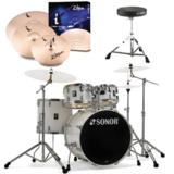 SONOR ソナー / SN-AQ1SG PW ピアノホワイト  ドラムセット AQ1 Stage Set 22BD  ZILDJIAN iシリーズシンバル付きパック 商品画像
