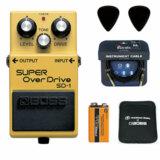 BOSS / SD-1 Super Over Drive 【ピック+STS3(ケーブル)+PROCELL+スリーブケースセット】 ボス オーバードライブ エフェクター SD1 商品画像