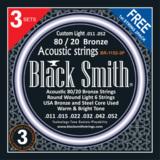 BLACK SMITH / 80/20 Bronze BR-1152-3P Custom Light 011-052 アコギ弦 3セットパック 商品画像