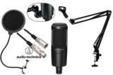 audio-technica / AT2020 コンデンサーマイク 安心スターティングセット01 -3m純正マイクケーブル、ポップブロッカー、アームスタンド付- 商品画像