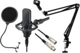 audio-technica / AT4040 (ショックマウント:AT8449a付属) -3m純正マイクケーブル、ポップブロッカー、黒アームスタンド付- 商品画像