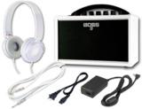 BOSS / KATANA-MINI WHITE KTN-MINI WH ホワイトセット ヘッドフォン、純正AC付き -イシバシ楽器限定販売モデル- 商品画像