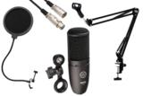 AKG / P120 安心コンデンサーマイクセット04 -3mマイクケーブル、ポップブロッカー、黒アームスタンド付- 商品画像