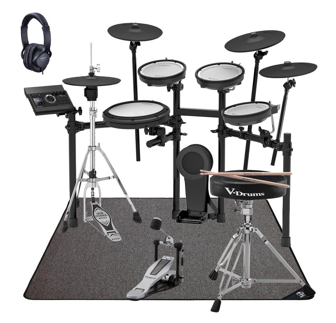 Roland 電子ドラム TD-17KVX-S ドラムアクセサリーパック SELVAマットセット