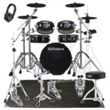 Roland 電子ドラム VAD306 TAMAツインペダルとPEARL製マットセット 商品画像