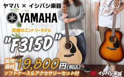 YAMAHA F315D / 究極のエントリーモデル。