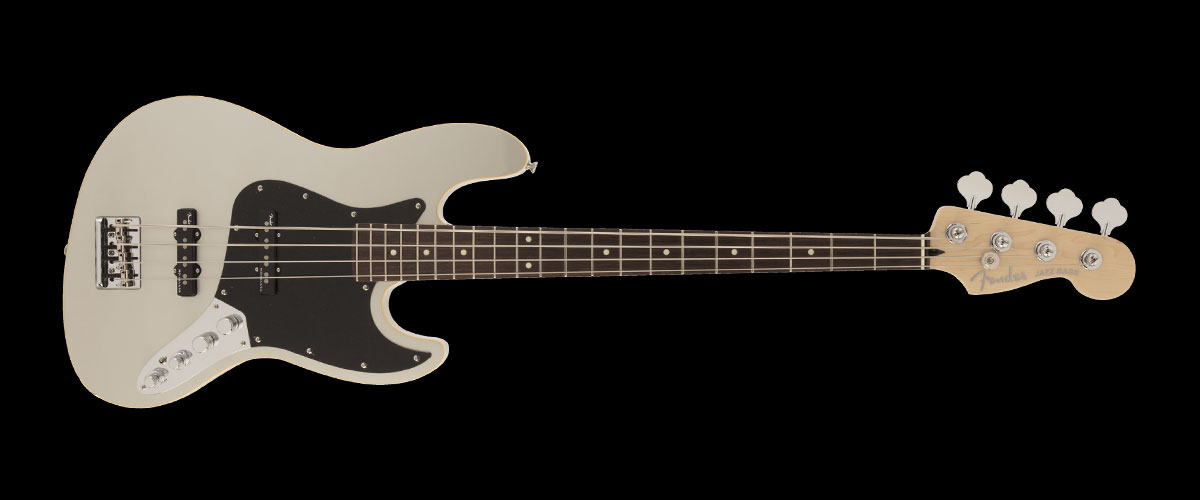 2019 MADE IN JAPAN MODERN JAZZBASS   Selected Rosewood Inca Silver