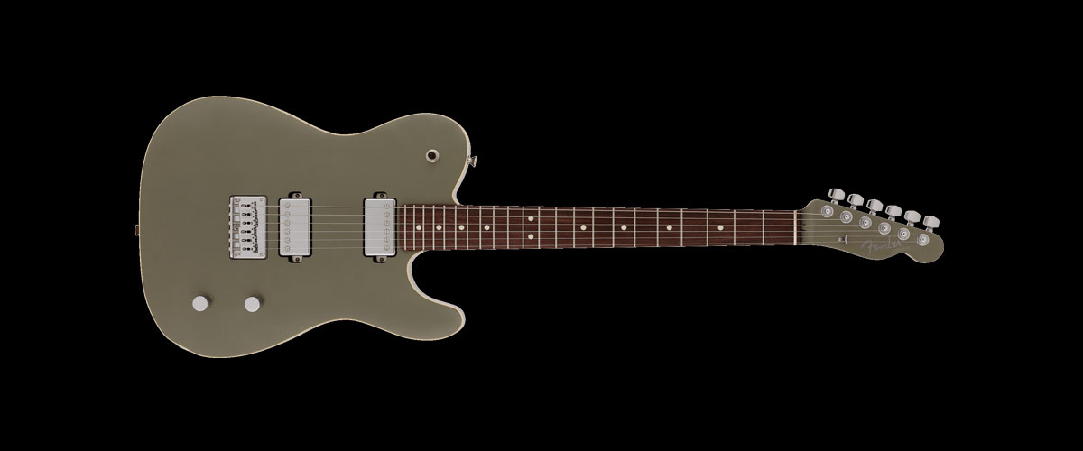 2019 MADE IN JAPAN MODERN TELECASTER HH  Selected Rosewood Jasper Olive Metallic