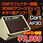 DSPエフェクター搭載、30Wのアコースティックギター用アンプ! Cort AF30
